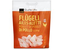 Coop Pouletflügeli, Schweiz, tiefgekühlt, 2,5 kg