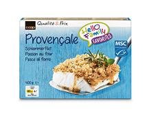Coop Schlemmerfilet Provençale, MSC, aus Wildfang, Nordpazifik, tiefgekühlt, 2 x 400 g