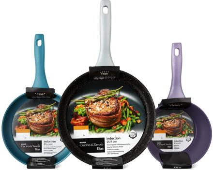 Cucina & Tavola Titan-Bratpfannen und -Stielkasserolle