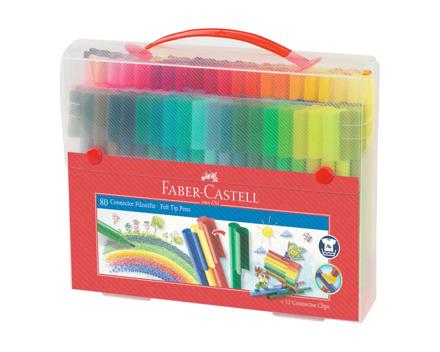 Faber Castell Connector Pen Koffer 80 Stück