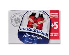 Feldschlösschen Bier Original, alkoholfrei, 10 + 5 x 33 cl