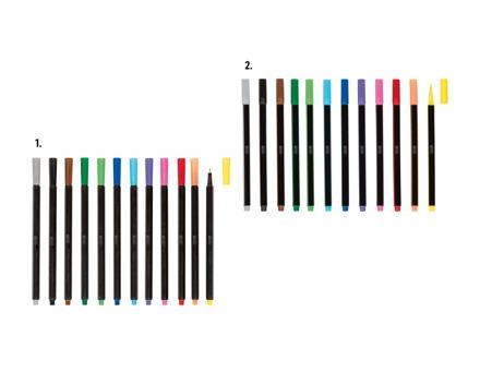 Fineliner/Pinselstifte, 12-teilig