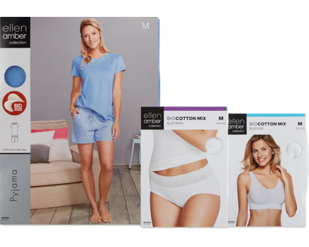 Gesamtes Damen-Tag-, -Nachtwäsche- und -BH-Sortiment