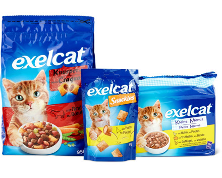 Gesamtes Exelcat Katzenfutter-Sortiment