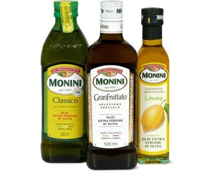 Gesamtes Monini-Olivenöl- und -Vinaigrette-Sortiment