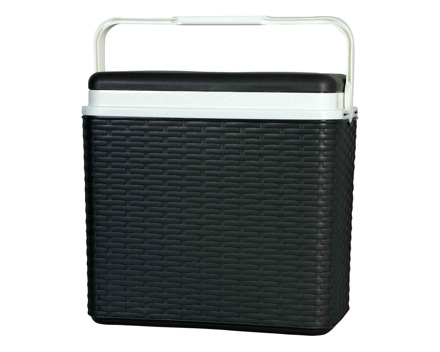 Kühlbox 24 Liter Rattan-Optik Anthrazit