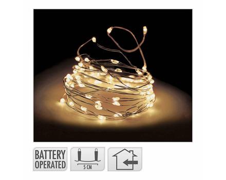 Lichterkette 100 LED indoor transparent