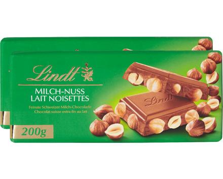 Lindt Tafelschokolade Milch-Nuss