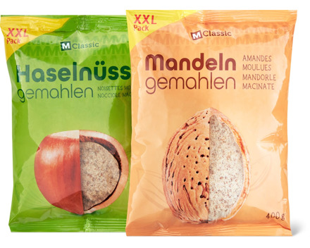 M-Classic-Haselnüsse und -Mandeln, gemahlen