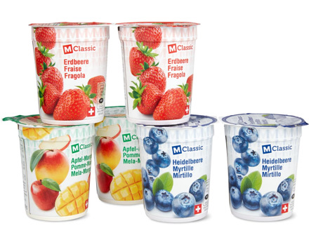 M-Classic- oder Saison-Joghurts