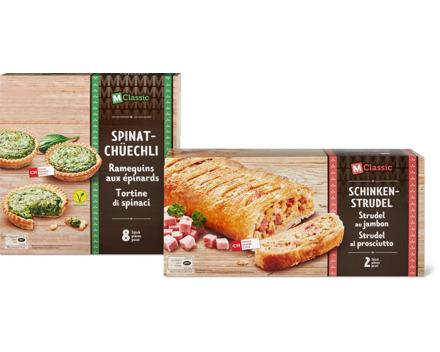 M-Classic-Schinken-Strudel oder -Spinat-Chüechli