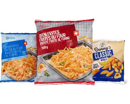M-Classic- und Denny's-Frites und -Wedges