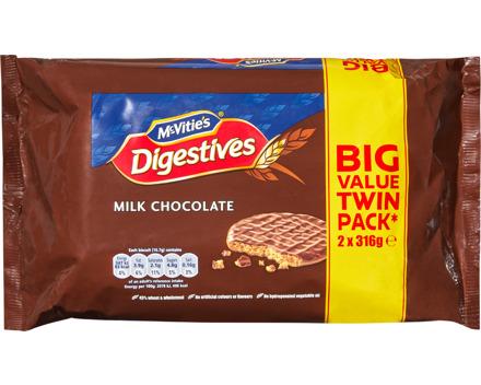 McVitie's Digestive Biscuits Milk Chocolate