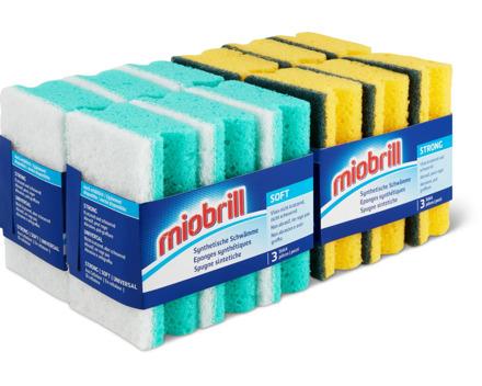 Miobrill synthetische Reinigungsschwämme soft und strong