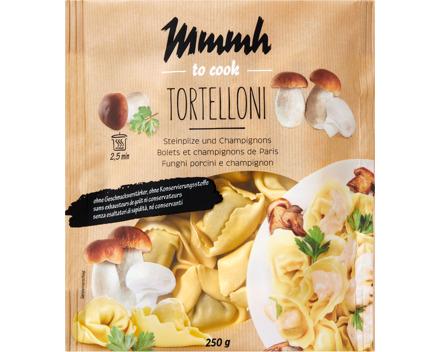 Mmmh Tortelloni Steinpilze und Champignons