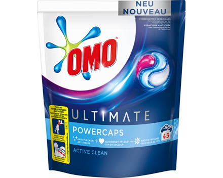 Omo Waschmittel Power Caps Ultimate Active Clean