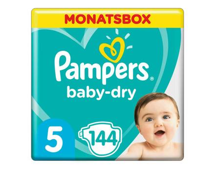 Pampers Baby Dry Gr. 5, 11-16 kg, Monatsbox, 144 Windeln