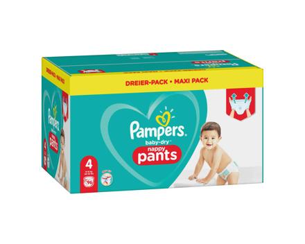 Pampers Baby Dry Nappy Pants Gr. 4 9-15 kg 96er
