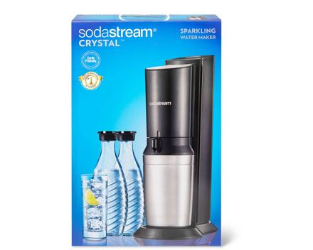 SodaStream Crystal Trinkwassersprudler mit 2 Glaskaraffen