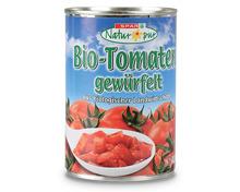 SPAR Natur pur Bio-Tomaten gewürfelt/ geschält