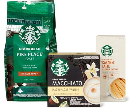Starbucks Kaffee Instant, in Bohnen und in Kapseln