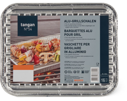 Tangan N° 54 Alu-Grillschalen