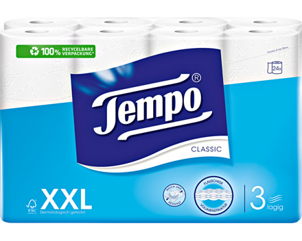 Tempo Toilettenpapier Classic weiss