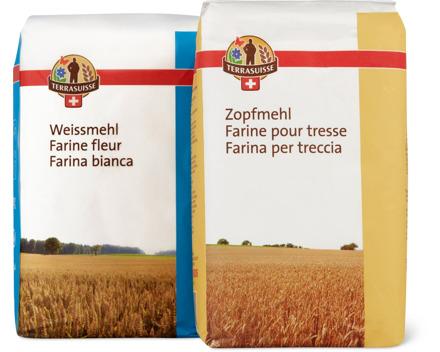 TerraSuisse-Zopf- und -Weissmehle, 1 kg