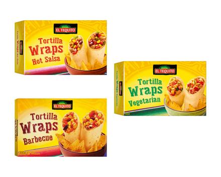Tortilla Wraps gefüllt