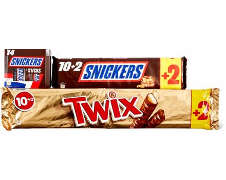 Twix, Snickers und Mars