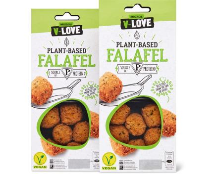 V-Love Plant-Based-Falafel oder -Vegetable Burger