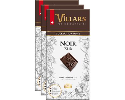 Villars Pur Tafelschokolade Dunkel 72%