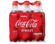 Z.B. Coca-Cola Classic, 6 x 45 cl 5.00 statt 7.20