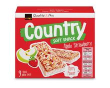 Z.B. Coop Country Riegel Soft Snack Apfel-Erdbeere, 9 x 26 g 3.15 statt 3.95