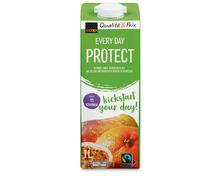 Z.B. Coop Every Day Protect, Fairtrade Max Havelaar, 4 x 1 Liter 4.65 statt 7.80