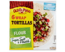 Z.B. Old El Paso Wrap Tortillas, 6 Stück, 350 g 4.35 statt 5.45