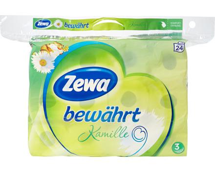 Zewa bewährt Toilettenpapier Kamille