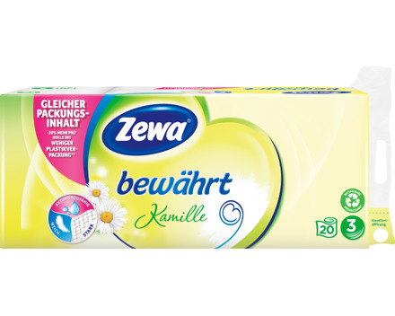 Zewa Toilettenpapier 3 lagig Kamille, bewährt