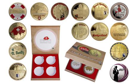 20% Rabatt auf Schweizer Souvenir-Münzen