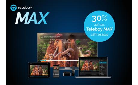 30% Rabatt auf das Teleboy MAX Jahresabo