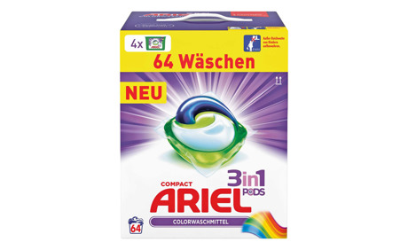 Ariel 3in1 Pods Color & Style, 64 WG