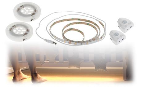 automatisches led bett nachtlicht 50 rabatt ab. Black Bedroom Furniture Sets. Home Design Ideas