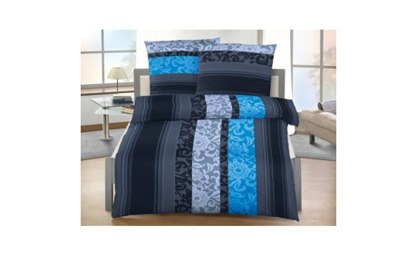 bettw sche schwarz grau blau ornament stil 28 rabatt lehner versand ab. Black Bedroom Furniture Sets. Home Design Ideas