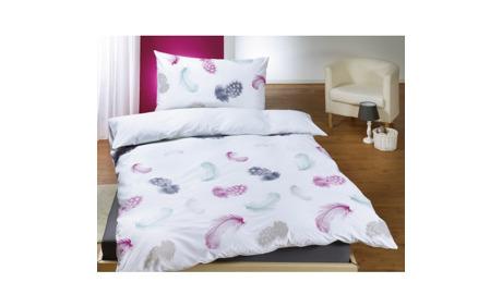 bettw sche weiss mit federn motiv lehner versand ab. Black Bedroom Furniture Sets. Home Design Ideas