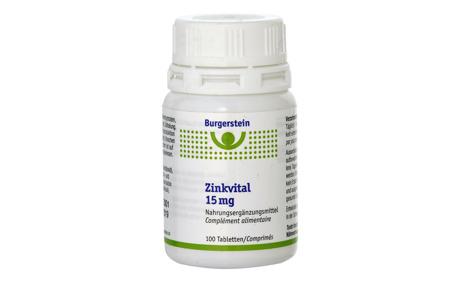 Burgerstein Zinkvital Tabl 15 mg 100 Stk