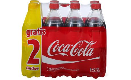Coca-Cola im 8er-Pack, 8 x 50 cl - 25% Rabatt - Migros ...