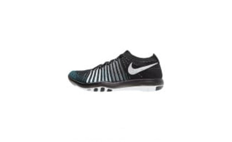 FREE TRANSFORM FLYKNIT - Trainings- / Fitnessschuh - black/white/wolf grey/dark grey - Zalando.ch