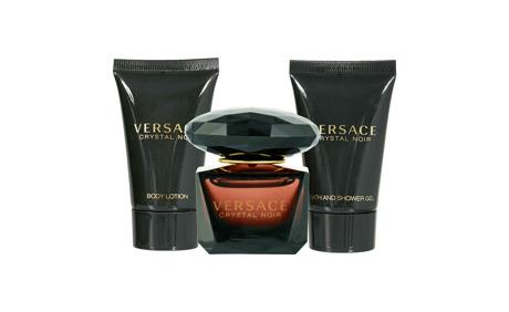 Versace Crystal Noir Miniset EdT Vapo 5 ml + Bodylotion 25 ml + Showergel 25 ml