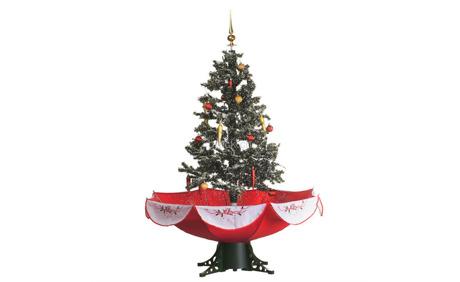 Tannenbaum Mit Schneefall.Weihnachtsbaum Mit Schneefall Schneefall Wird Durch