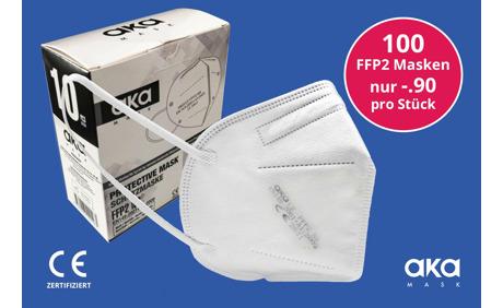 Zertifizierte FFP2 Masken - 90 Rappen pro Stück